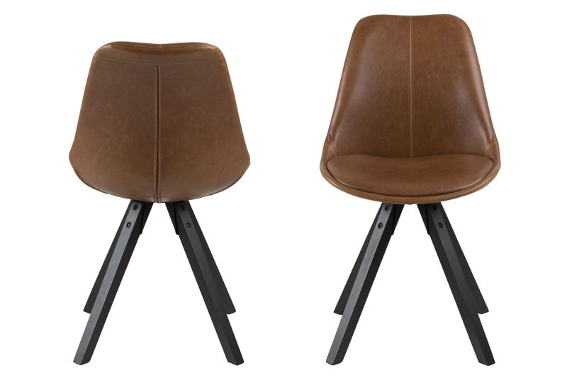 Fryd Spisebordsstol i læderlook - PU Cognac