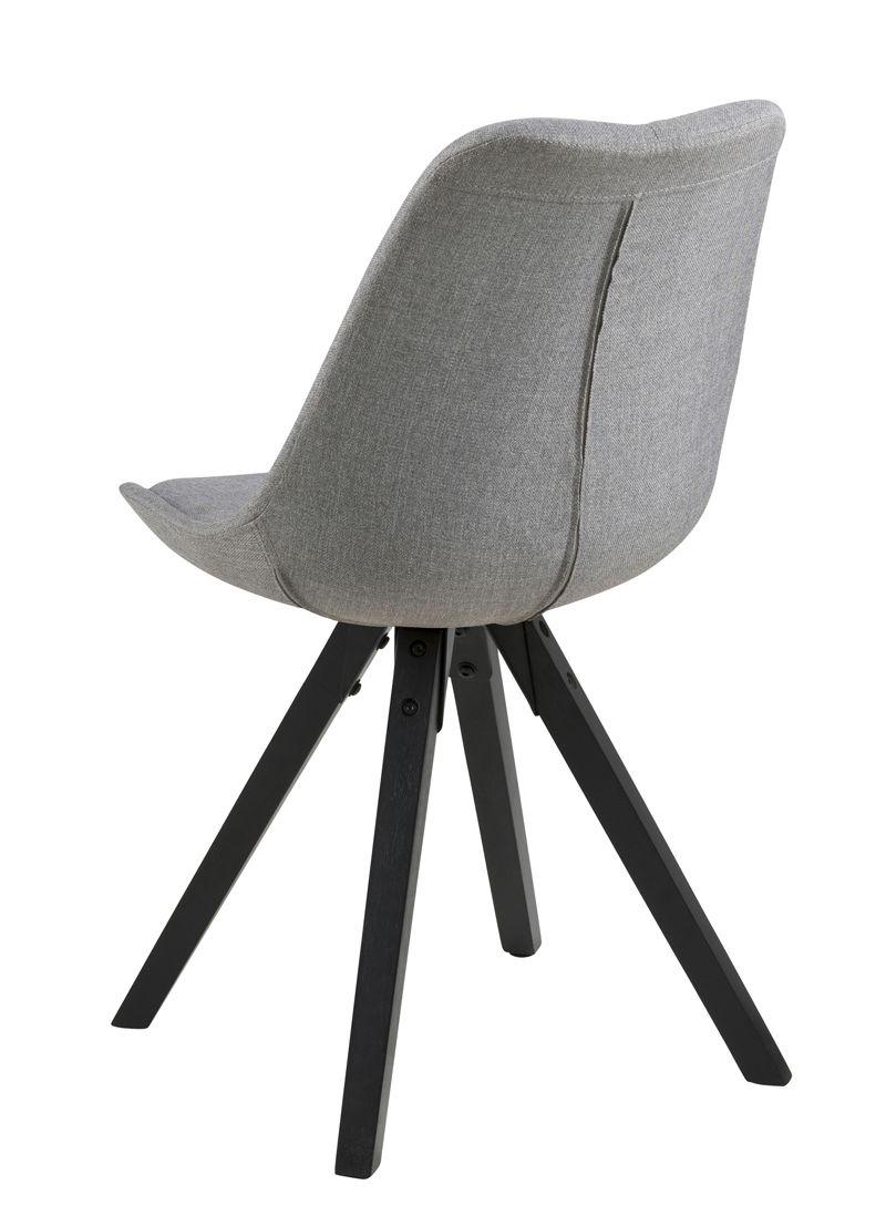 Fryd Spisebordsstol i lysegrå - Centerben i gummitræ
