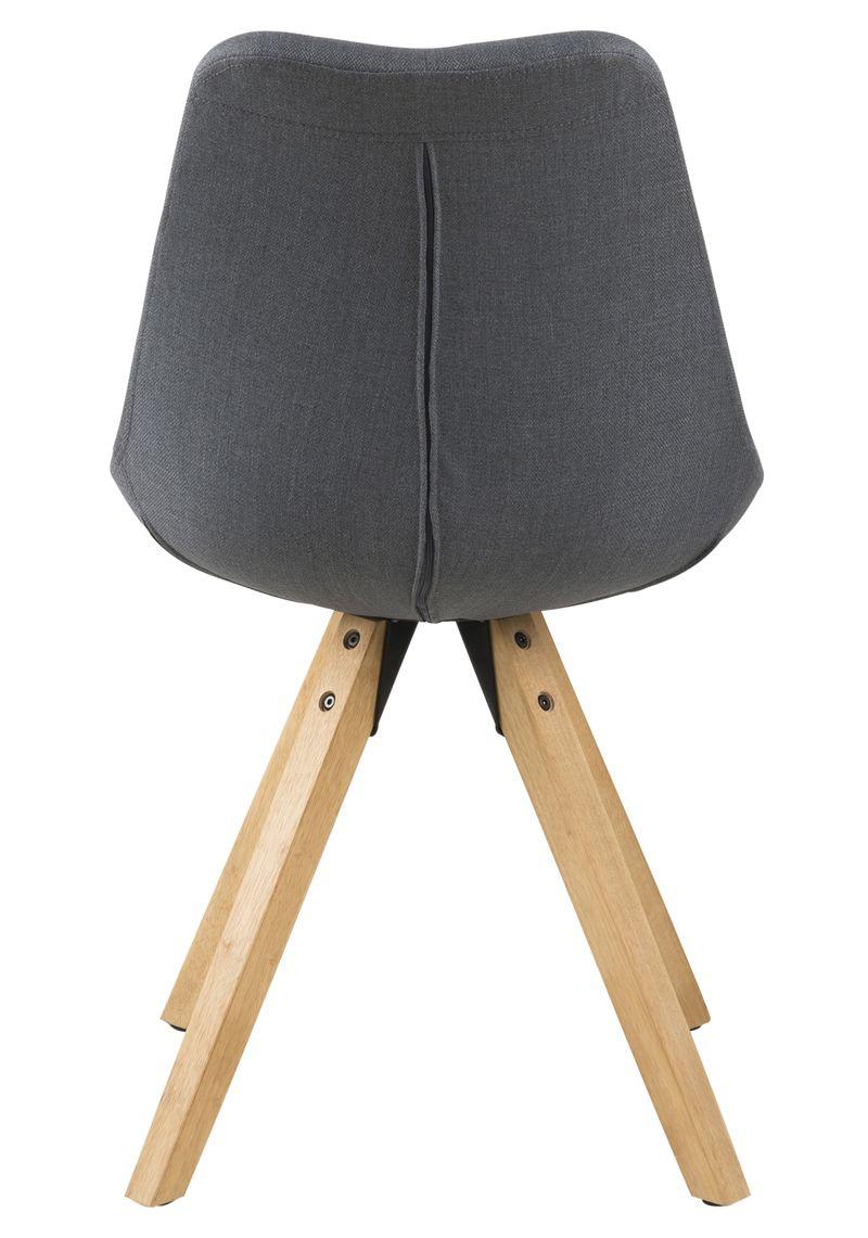 Fryd Spisebordsstol - Mørk Grå stof - Skalstol med træben