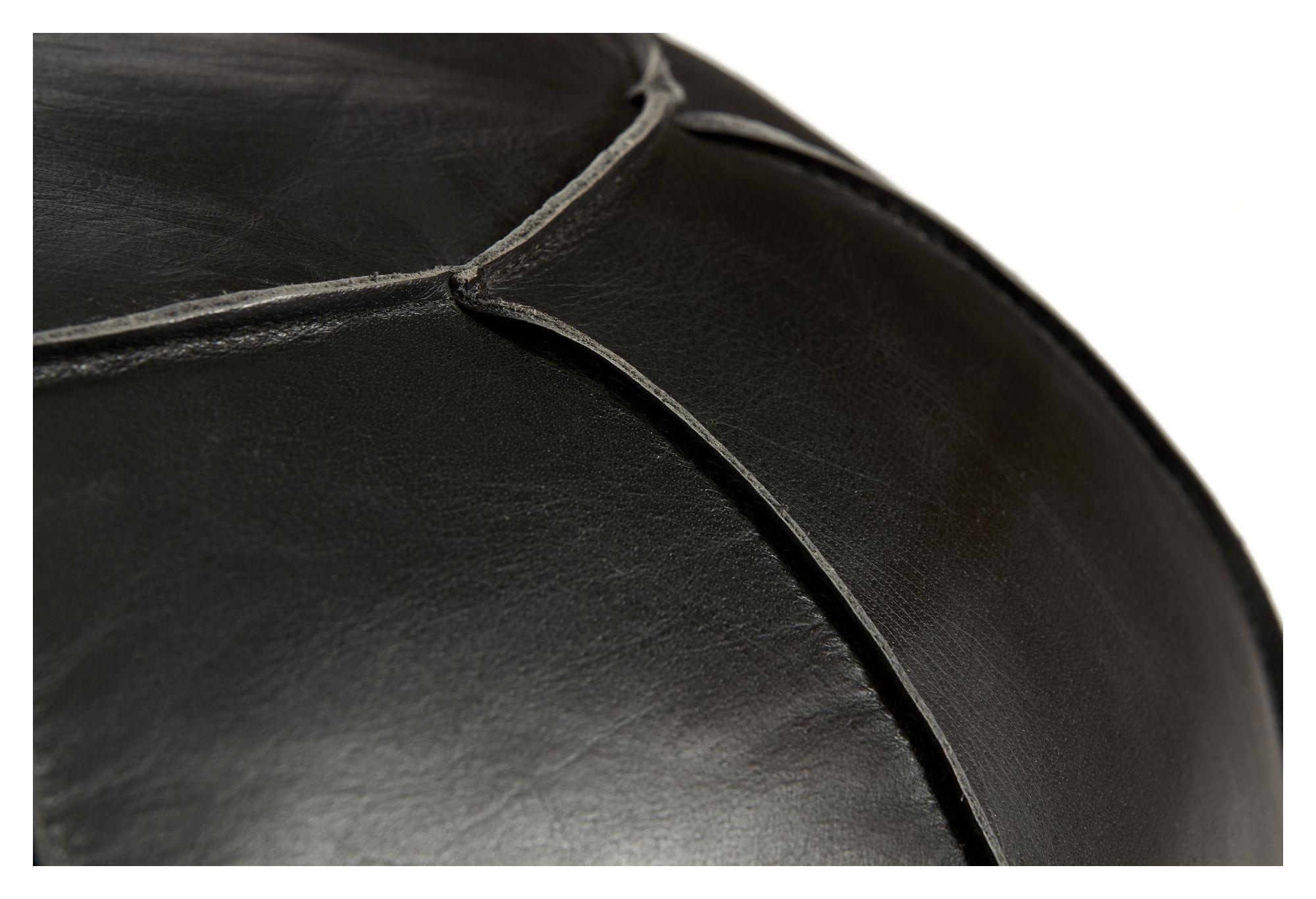 Fuhrhome Casablanca Puf - Sort Læder, Ø60
