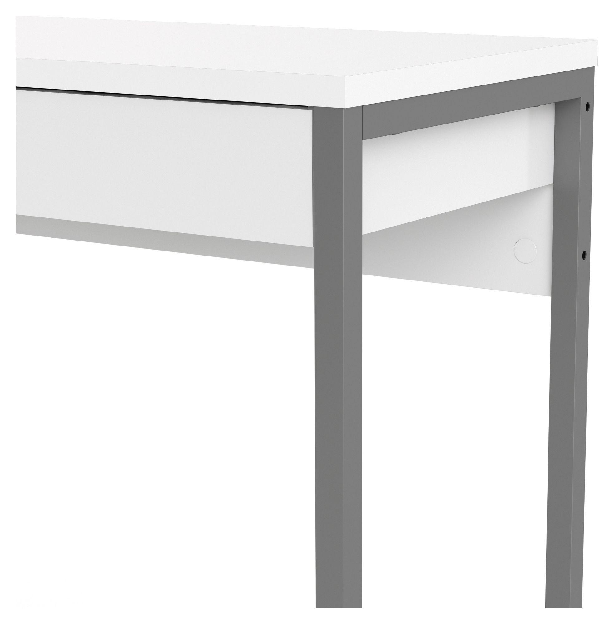 Function Plus Skrivebord - Hvid højglans - Skrivebord i hvid højglans
