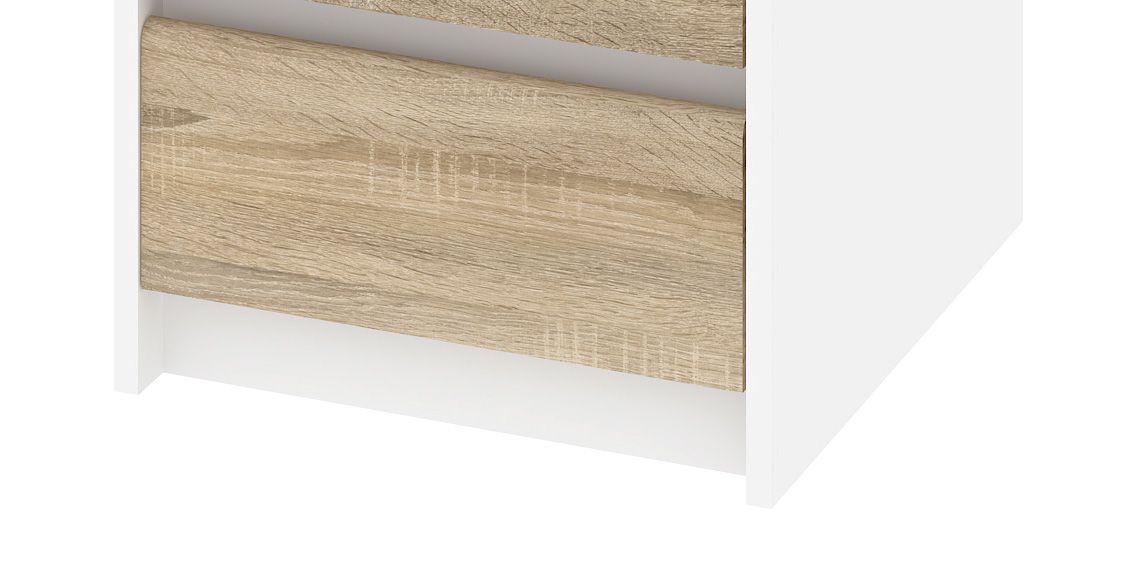 Function Plus Skrivebord - Hvid m/3 skuffer - Hvidt skrivebord m skuffer