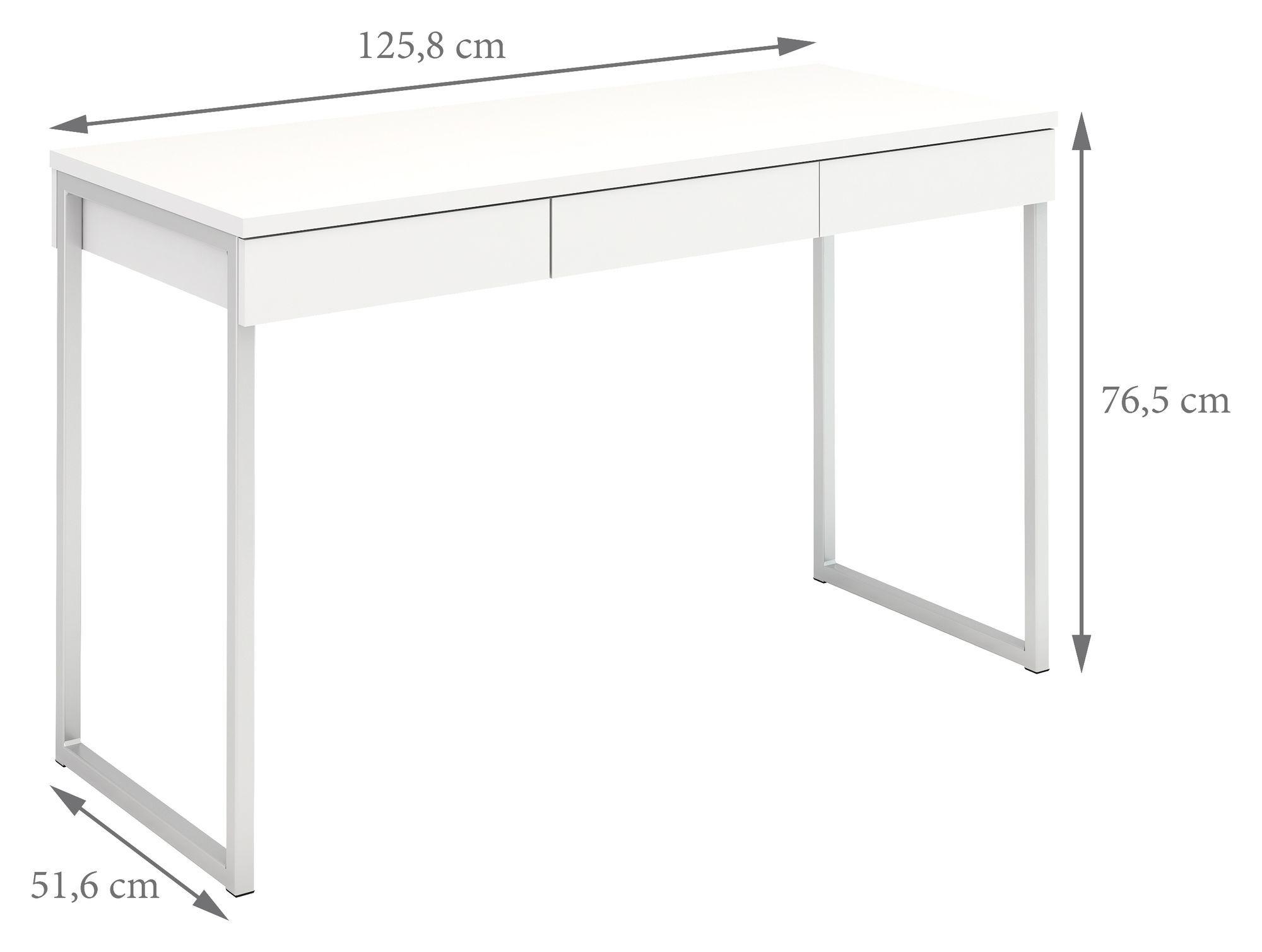 Function Plus Skrivebord - Hvid - Skrivebord i hvid