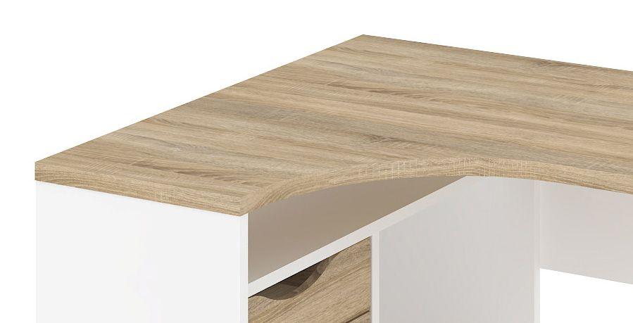 Function Plus Skrivebord - Hvidt hjørneskrivebord med skuffer