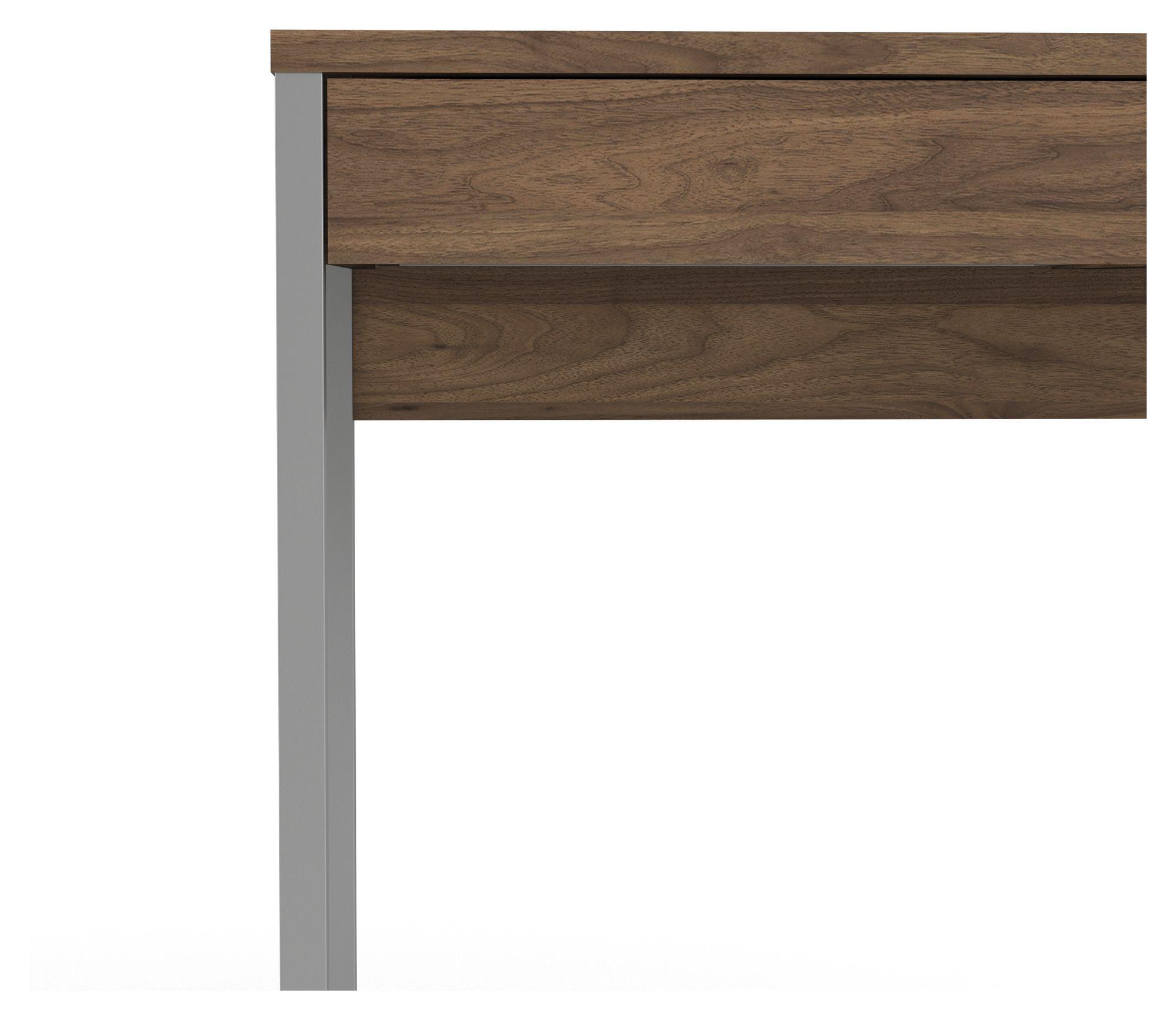 Function Plus Skrivebord - Mørk træ - Valnøddefarvet skrivebord med 2 skuffer