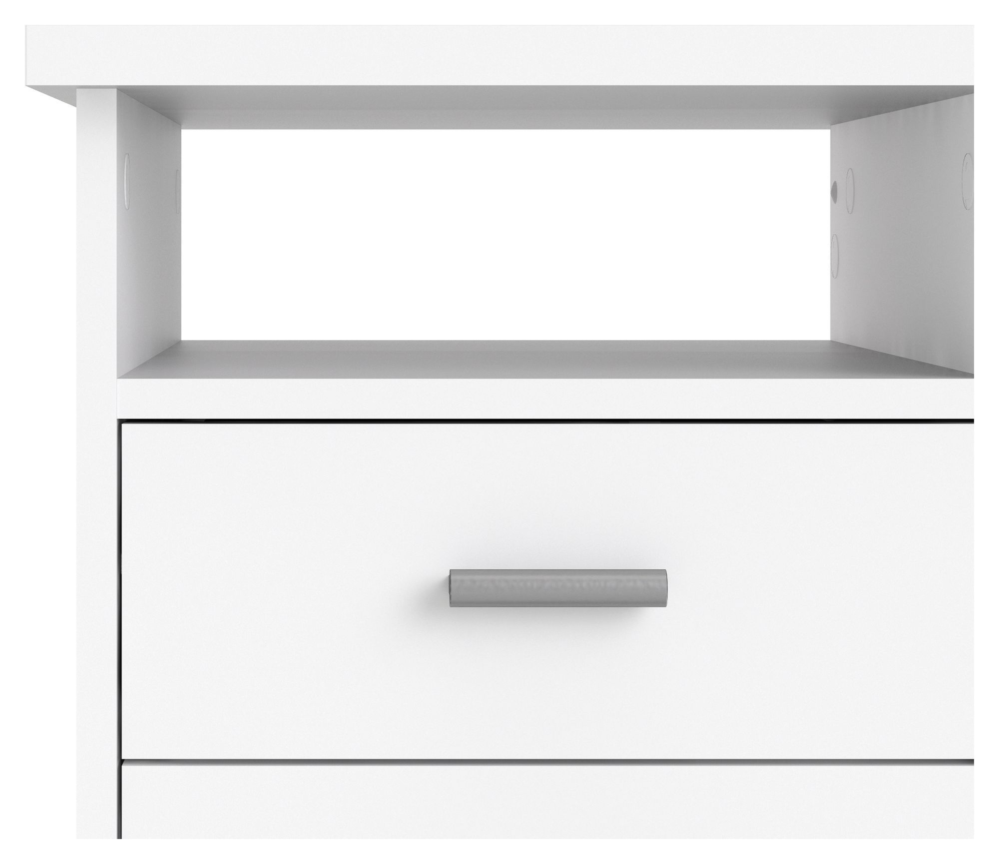 Function Skrivebord - Hvid m/4 skuffer - Skrivebord i hvid