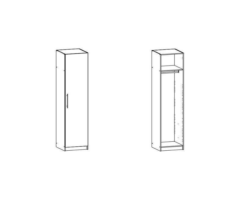 Gamby Garderobeskab 50 cm, Hvid
