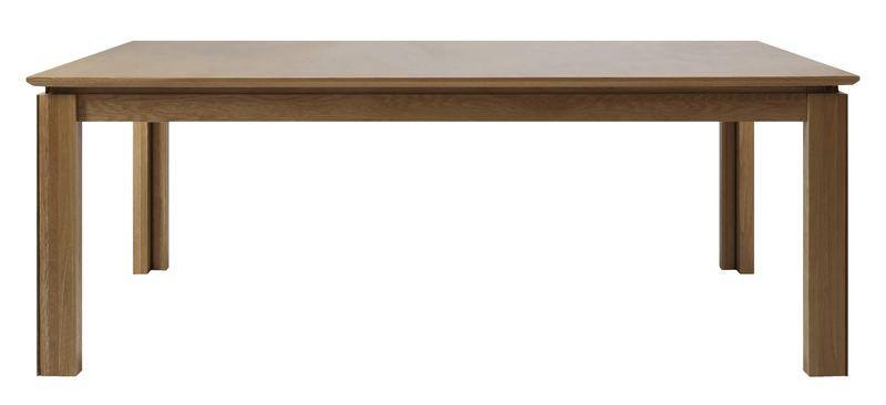 Haltop Spisebord - olieret Egefinér - Spisebord m. indbygget tillægsplade