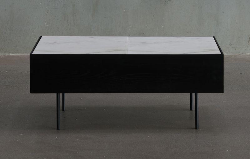HANDVÄRK Sofabord m. Hvid marmor