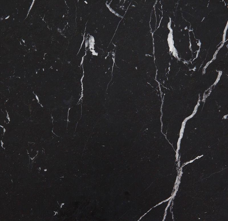HANDVÄRK - Konsolbord 184x46 - Sort Marmor, messing - Sort konsolbord med messing