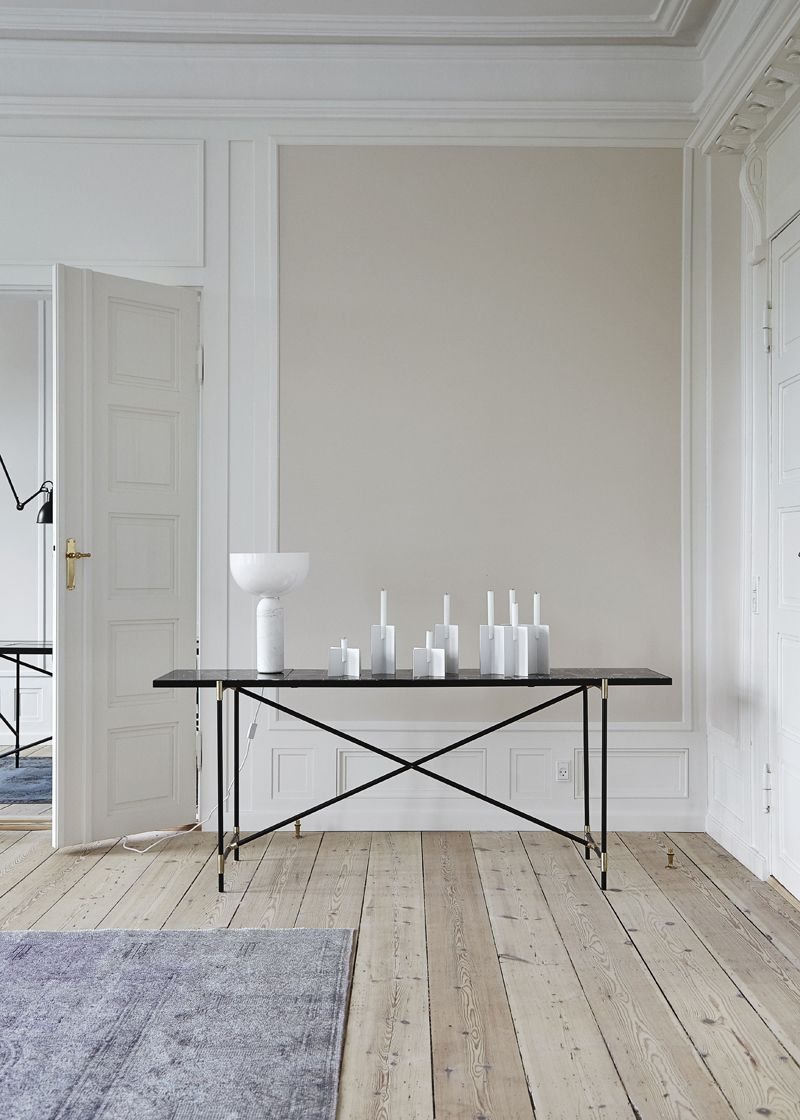 HANDVÄRK - Konsolbord 184x46 - Sort Marmor, sort - Konsolbord med sort marmor