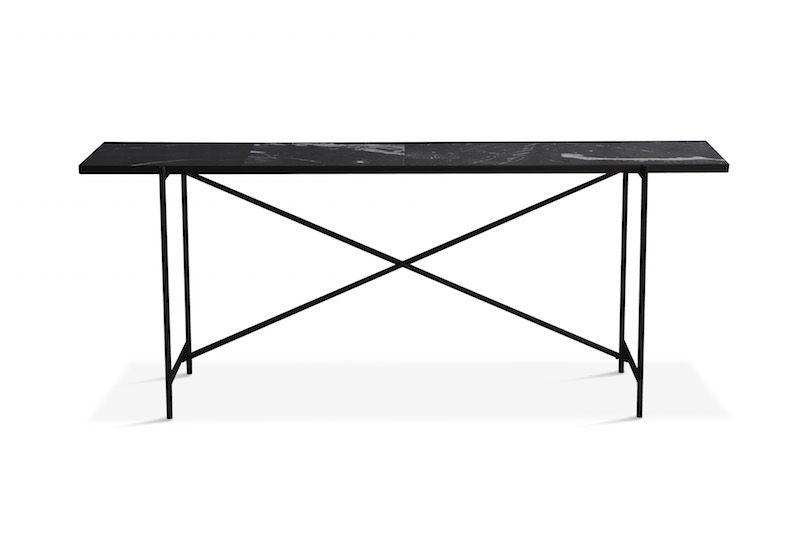 HANDVÄRK Konsolbord 184x46 - Sort Marmor, sort - Konsolbord med sort marmor