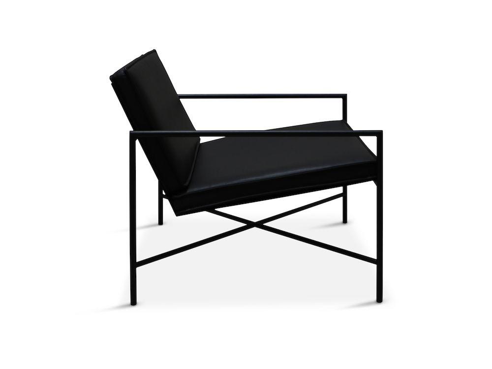 HANDVÄRK - Loungestol sort Aniline læder - Design Emil Thorup