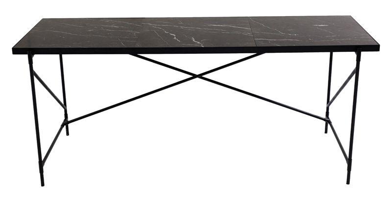 HANDVÄRK - Skrivebord 180x62- Sort Marmor - Skrivebord i sort marmor