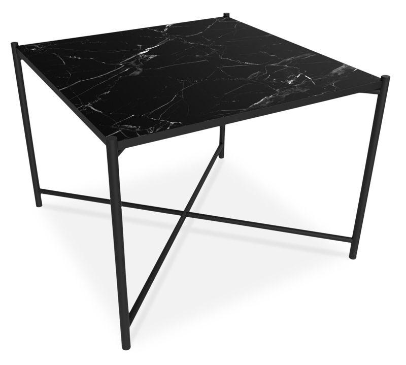 HANDVÄRK - Sofabord 62x62 - Sort Marmor - Sofabord i sort marmor
