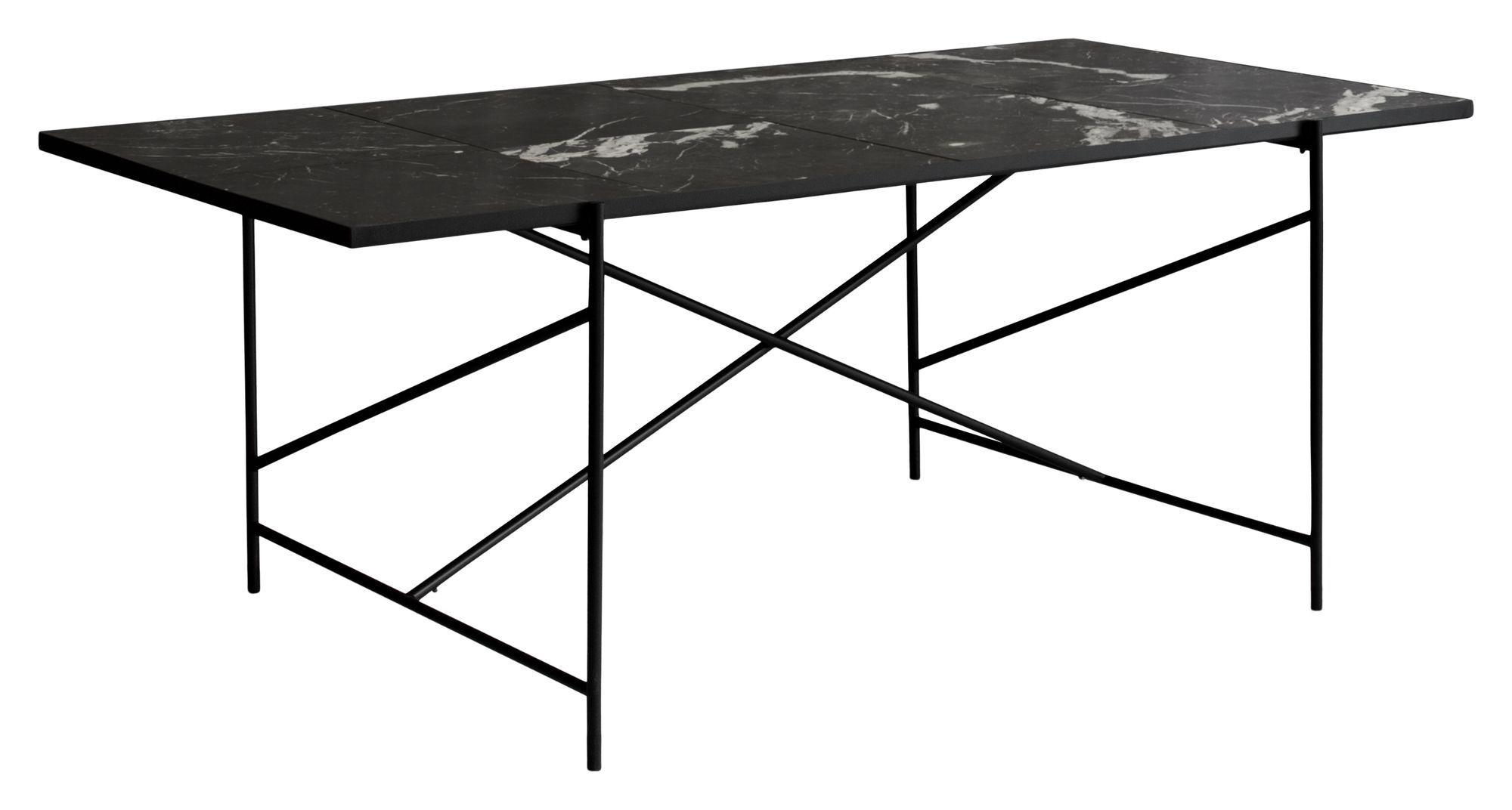 HANDVÄRK Spisebord 184x96 - Sort Marmor, sort stel - Spisebord med sort marmor