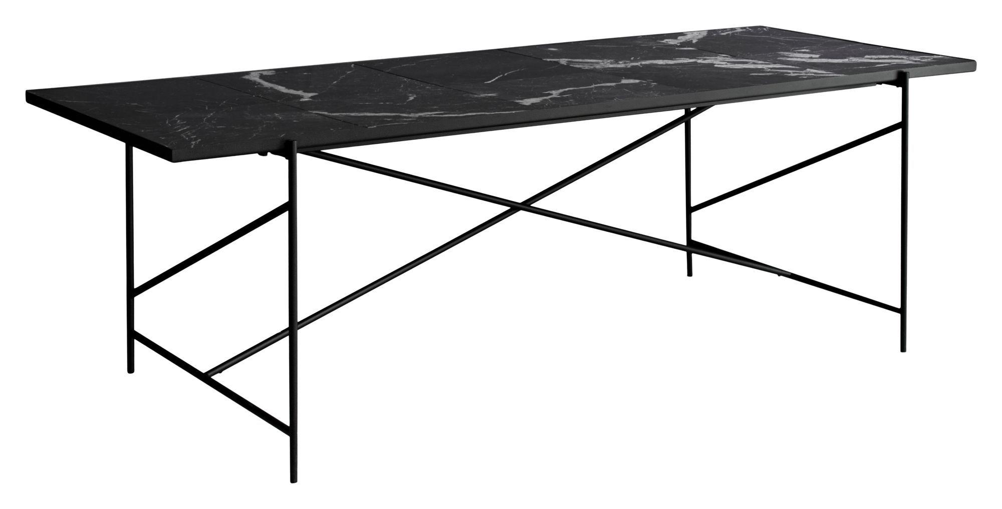 HANDVÄRK Spisebord 230x96 - Sort Marmor - Spisebord med sort marmor