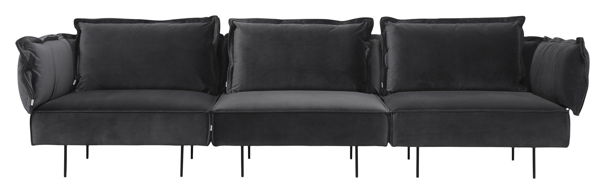 HANDVÄRK The Modular sofa midter - Grå Velour - Midter