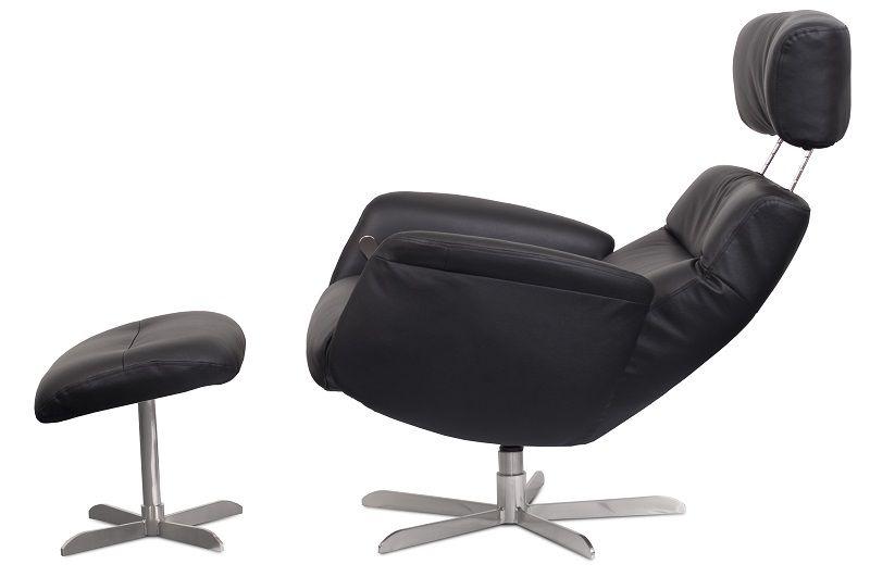 Harrow Hvilestol - Sort Semianalin - Lænestol med stjernefod