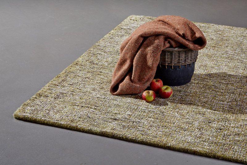 Dundee Håndtuftet tæppe - Grøn - 160x230 - Tæppe i grøn og hvid - 160x230 cm