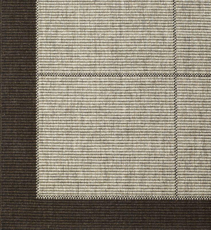 New Casablanca 160 x 240cm m. brun kant - Fladvævet tæppe i 80% uld, med gummibagside. Findes i flere størrelser
