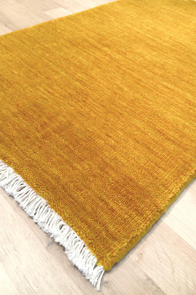 Skagen Håndvævet Tæppe - Mustard Gul - 200x290