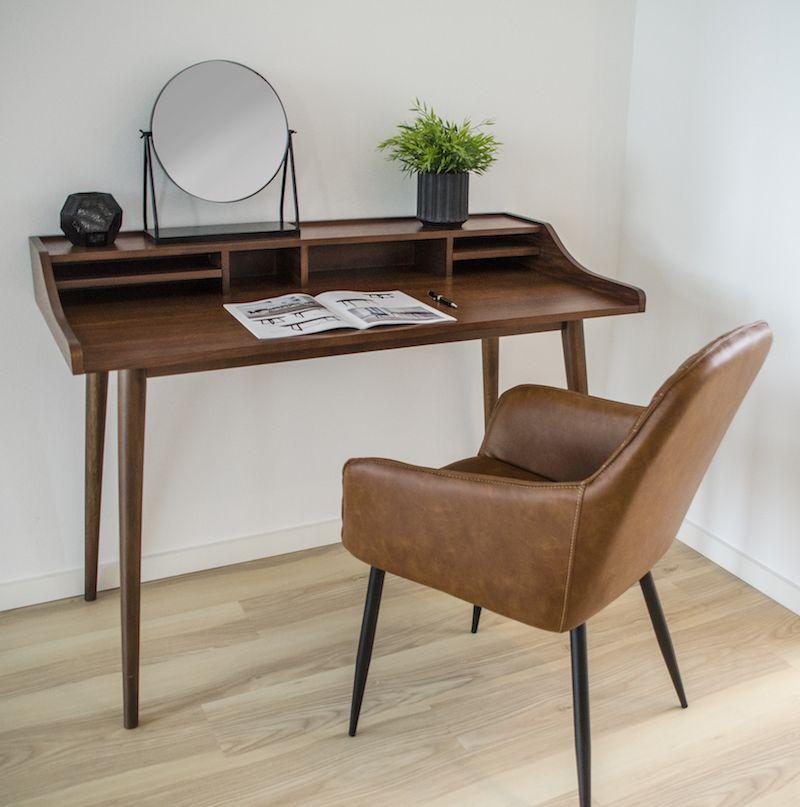 Hellerup Skrivebord i valnød finér