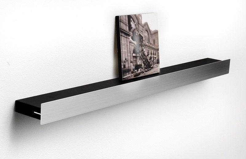 Hoigaard Design Gallerihylde - Sort - SR-68 med aluminiumskant - mellem