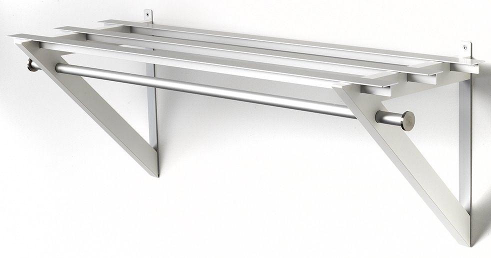HH-6 Milano Hattehylde - Hvid hattehylde i aluminium.