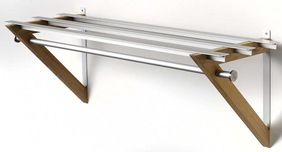 HH-6 Milano Hattehylde - Hattehylde i aluminium og olieret eg.