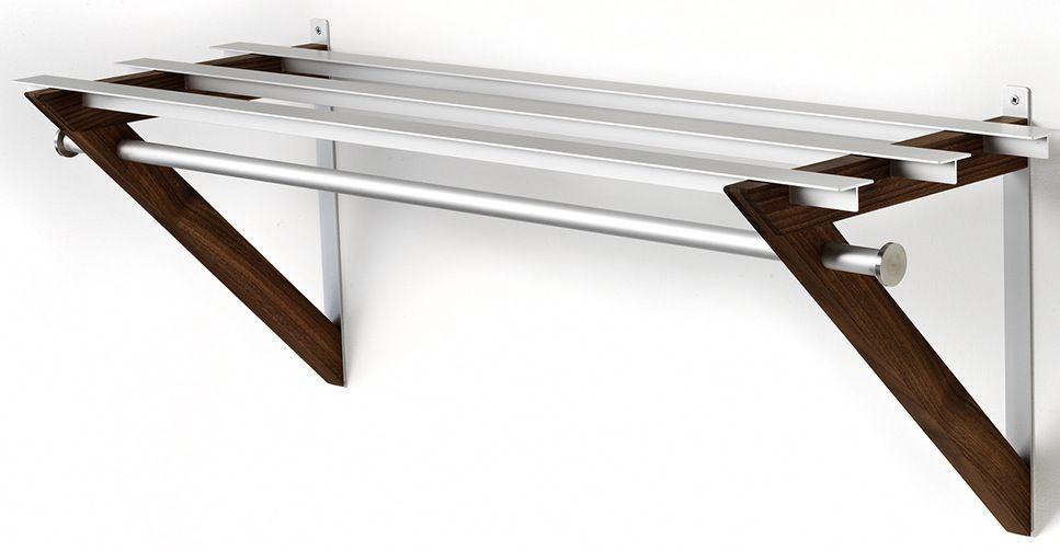 HH-6 Milano Hattehylde - Hattehylde i aluminium og valnød.