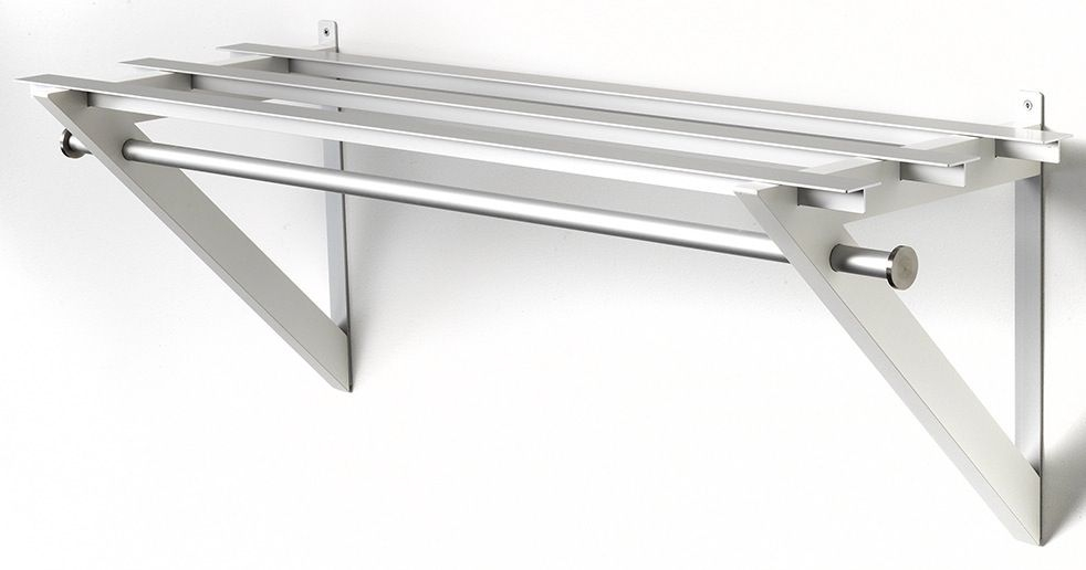 HH-7 Milano Hattehylde - Hvid hattehylde i aluminium.