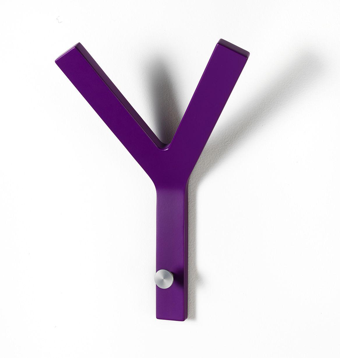 Milano Y-knage - Aubergine knage i formspændt finer.