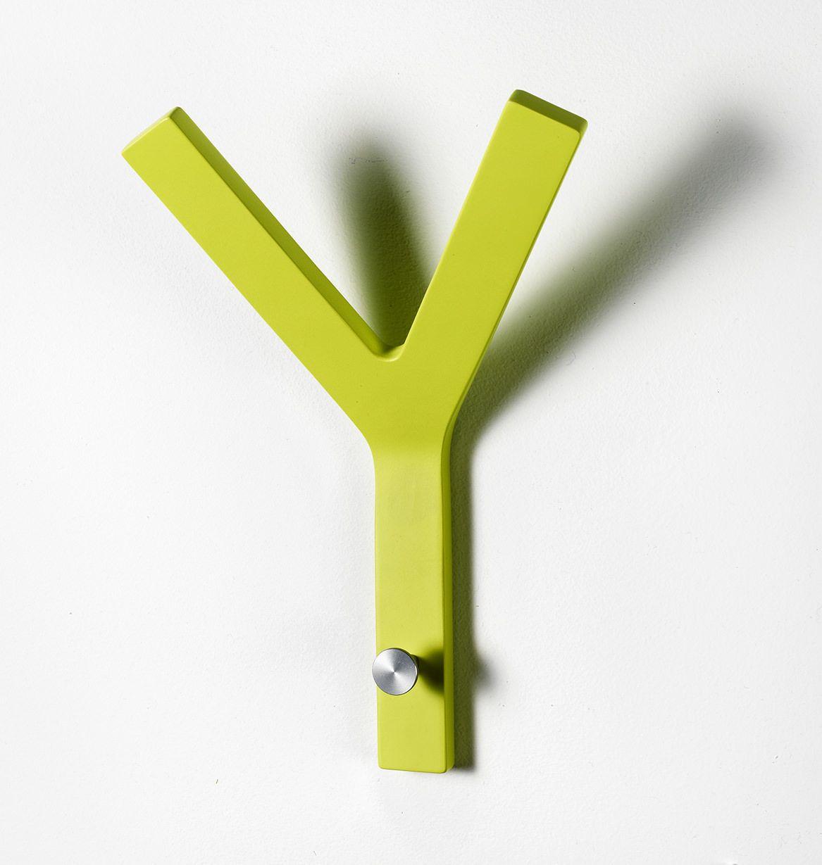 Milano Y-knage - Lime knage i formspændt finer.