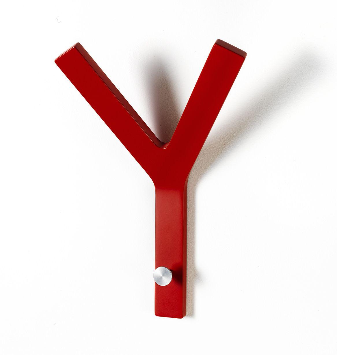 Milano Y-knage - Rød knage i formspændt finer.