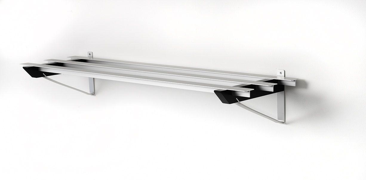 SR-3 Milano Skohylde - outlet - Sort skohylde i aluminium.