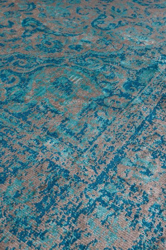 homii Chi Orientalske Tæppe - Blå, 160x230 - Orientalsk blått teppe 160x230 cm