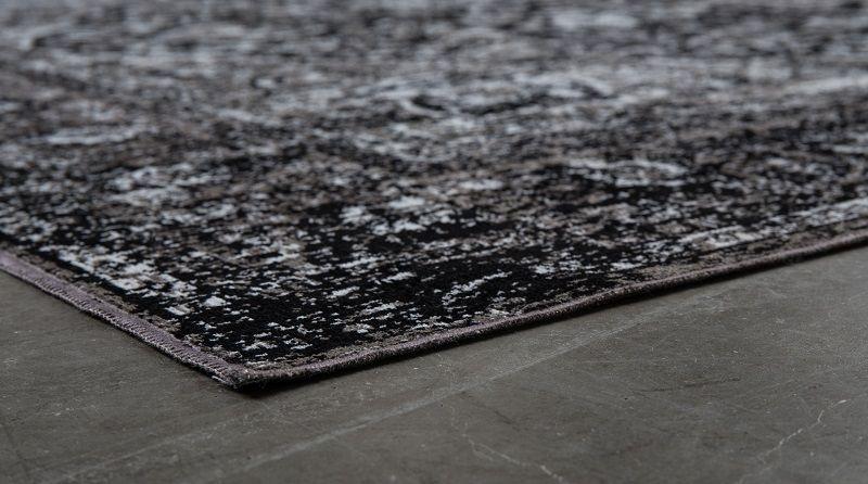 homii Chi Orientalske Tæppe - Sort, 160x230 - Orientalsk svart teppe 160x230 cm