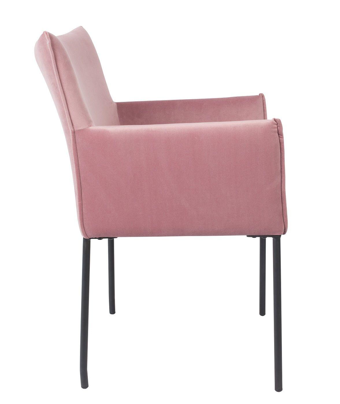 homii Dion Spisebordsstol m. armlæn - Pink Velour