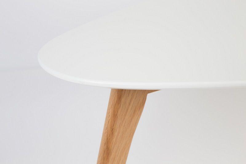 homii Drop Sidebord - Hvid/Natur