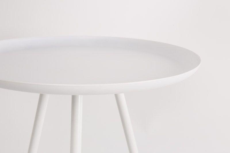 homii Frost Sidebord - Hvid, Ø39 - Sidebord i hvit