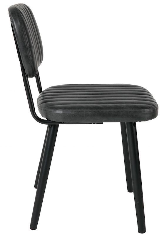 homii Jake Spisebordsstol - Sort PU læder sæde - Svart spisestol