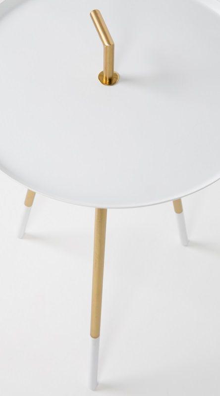 homii Rumbi Sidebord - Hvid, Ø37