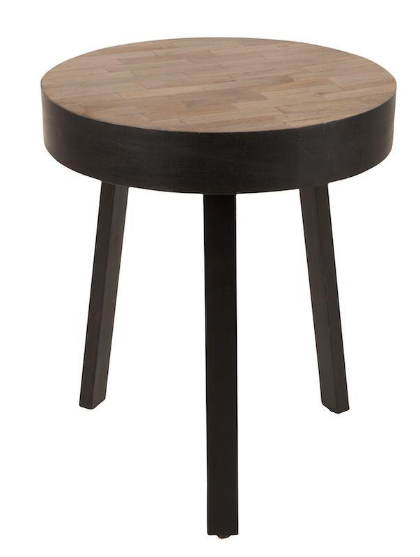 homii Suri Sidebord - Genanvendt teak, Ø45 - Sidebord i naturtre