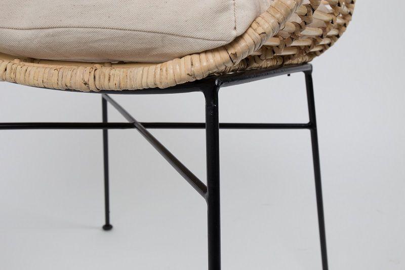 homii Tiger Spisebordsstol m/armlæn - Natur