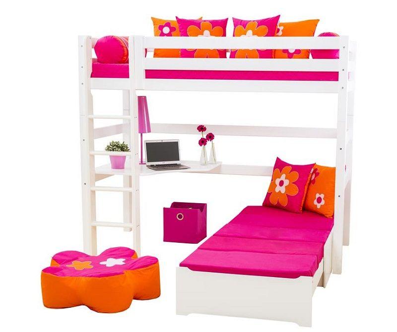 Hoppekids 5-delt madras - Pink - 9x80x200 cm