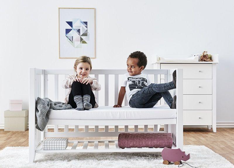 Hoppekids - Anton Babyseng 120x60 - Hvid - Svanemærket babyseng
