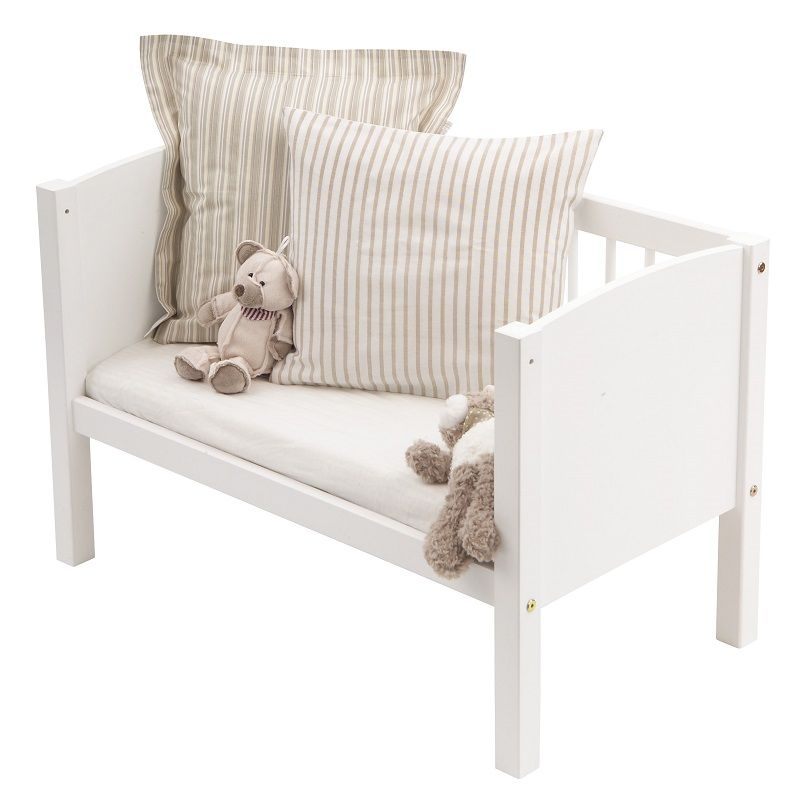 Hoppekids Baby Vugge  - Sød lille hvid vugge/bænk