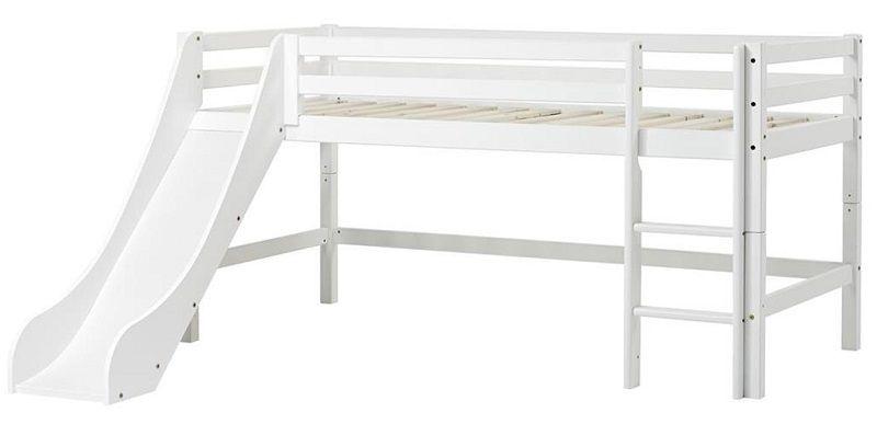 HoppeKids BASIC Halvhøj seng - 90x200 cm - Halvhøj seng - Hvid