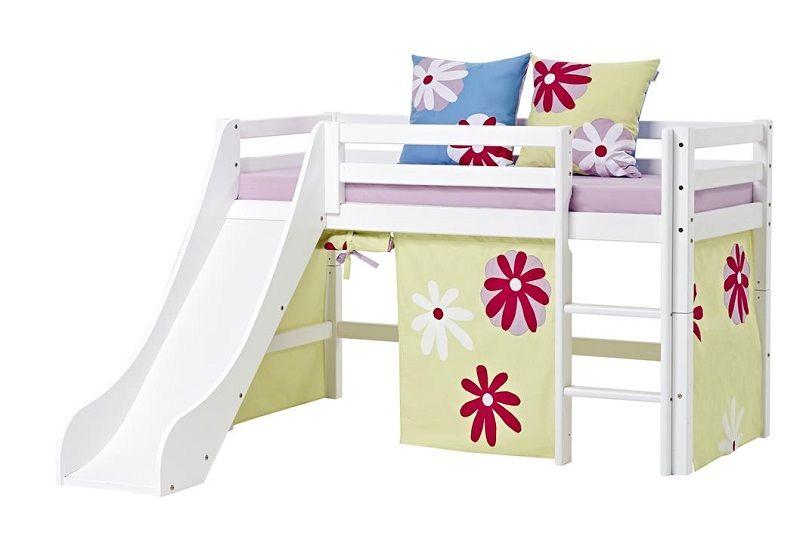 HoppeKids BASIC Halvhøj seng - Hvid - Juniorseng - 70x160 cm